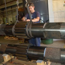 Large Pinion Shafts Flame Hardened