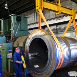 12 Tonne Rope Drum for Flame Hardening the Grooves