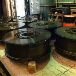 Heavy Duty Crane Wheels Flame Hardened and Packed for Tempering