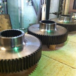 Spur Gears Flame Hardened O.D. Teeth and Internal Splines Ready for Tempering