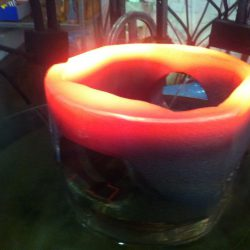 Train Pivot Coupling Flame Heated Ready for Quenching